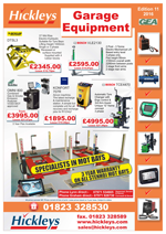 Garage Equipment Latest Deals Brochure