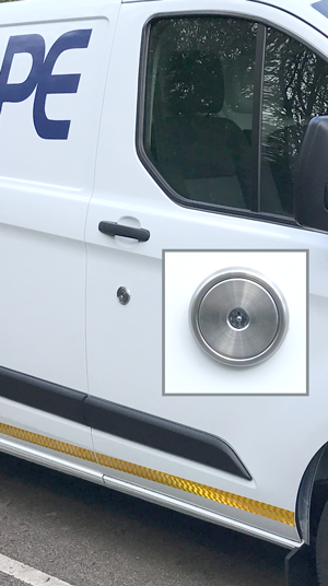 Ford Rep Lock fitted to a Ford Transit Custom